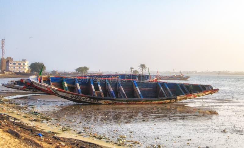 Yaf wioska rybacka - Dakar, Senegal, afryka zachodnia obrazy royalty free