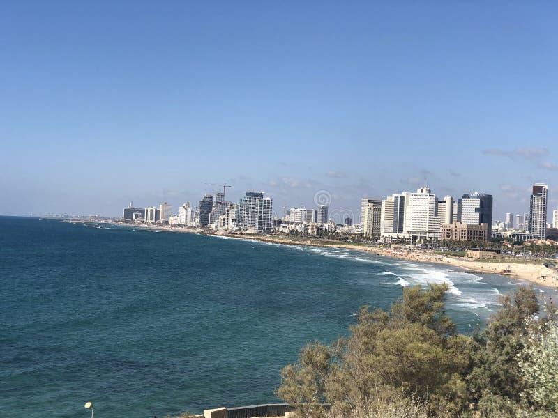 Yafa sikt av havet royaltyfri bild