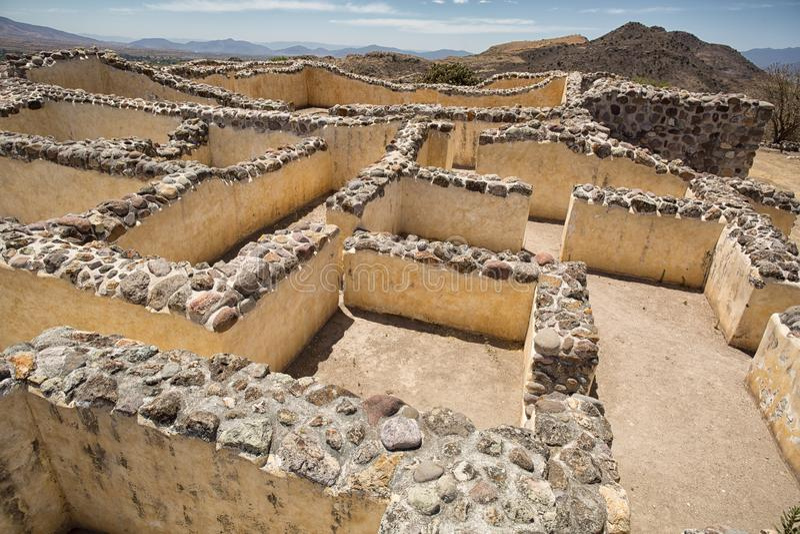 Yagul fördärvar i Oaxaca Mexico royaltyfria foton