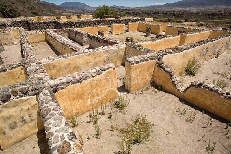 Yagul zapotec fördärvar i Oaxaca Mexico royaltyfri bild