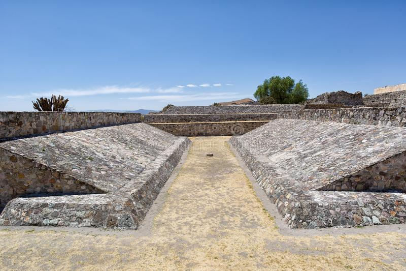 Yagulruïnes in Oaxaca Mexico royalty-vrije stock afbeeldingen