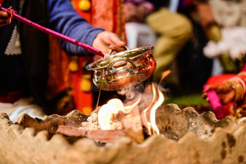 Yagya un rituel dans l'hindouisme photos libres de droits