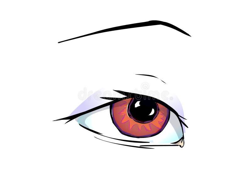 Yah ?. Red brown eye with eyelashes
