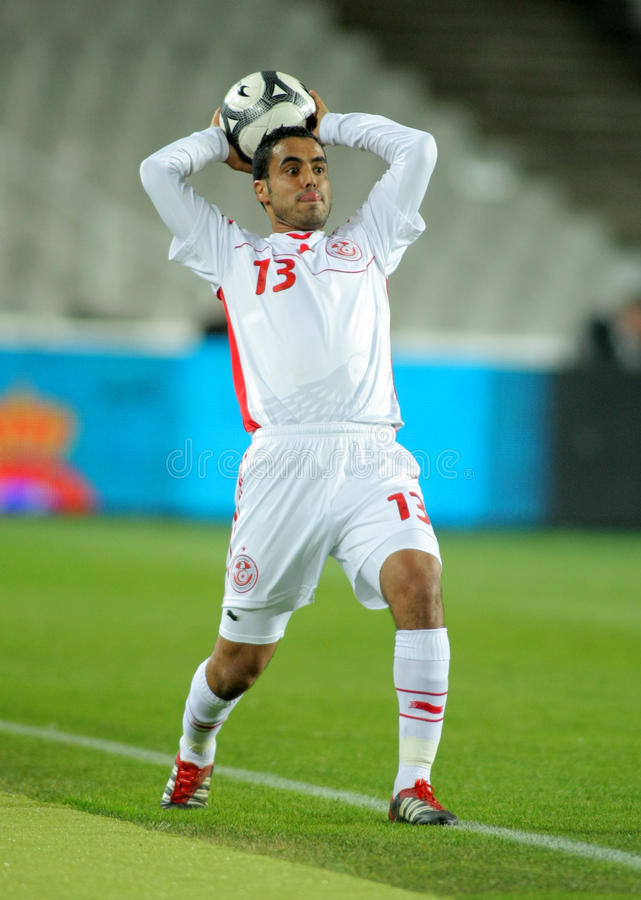 yahia för wissem för ben spelare tunisian royaltyfri foto