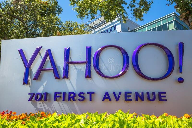 Yahoo 701 πρώτη λεωφόρος στοκ φωτογραφίες