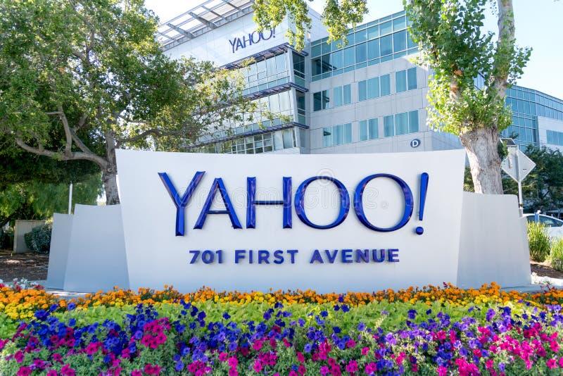 Yahoo Coprorate Headquarters e segno fotografia stock libera da diritti