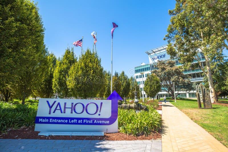 Yahoo Headquarters Main Entrance fotografia stock libera da diritti