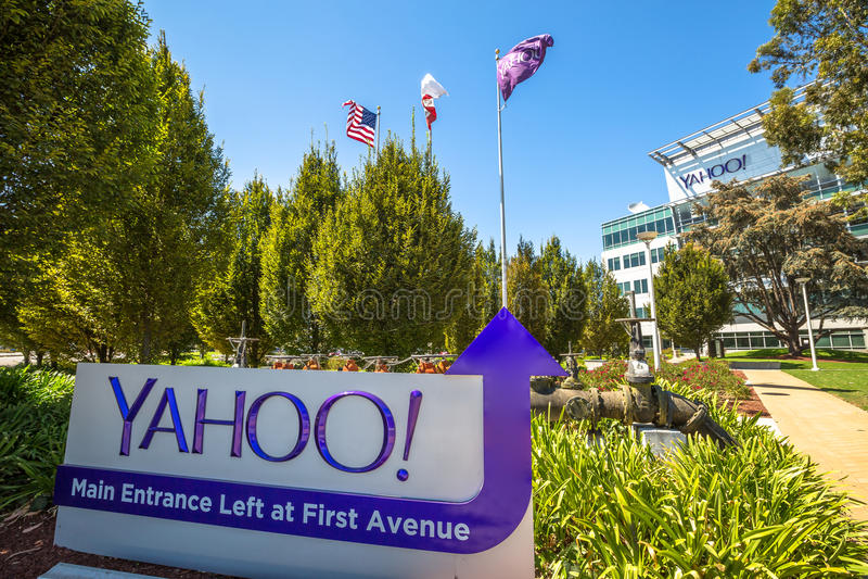 Yahoo Headquarters Main Entrance immagini stock