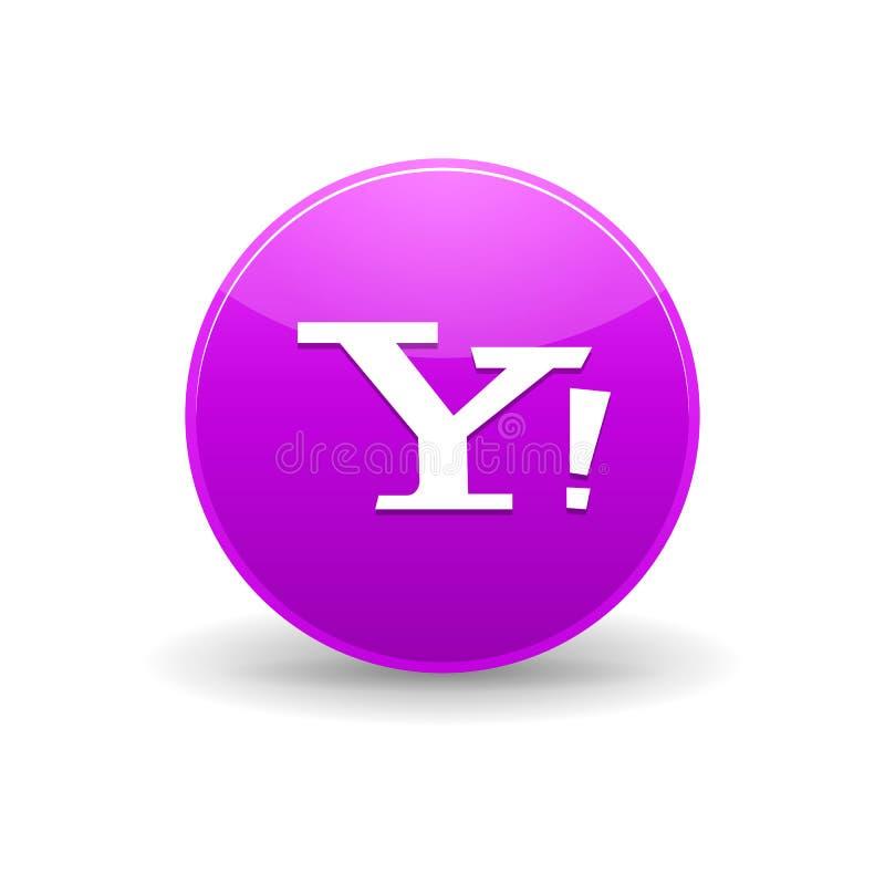 Yahoo ikona, prosty styl ilustracji