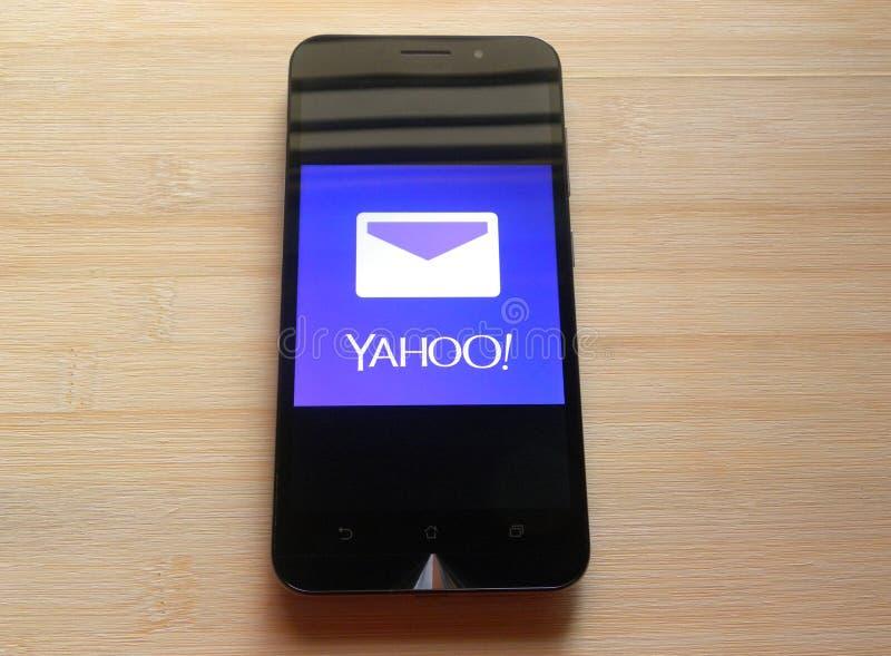 Yahoo! Mail app royalty free stock photo