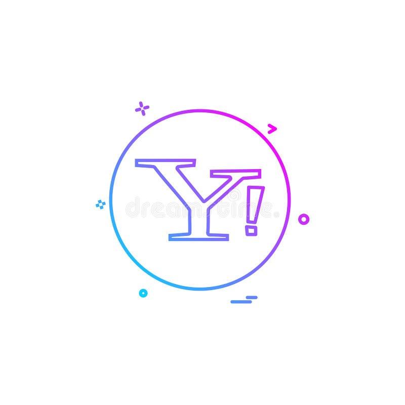 yahoo ogólnospołecznej ikony wektorowy projekt ilustracja wektor