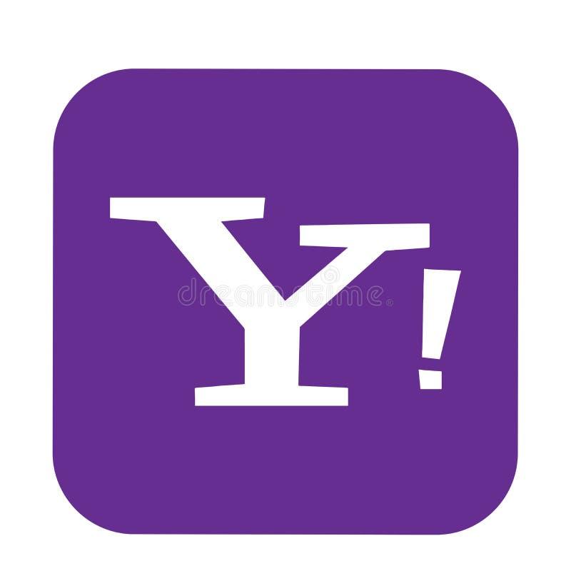 Yahoo poczty logo guzika ogólnospołeczna medialna ikona w wektorze z nowożytnymi gradientowymi projekt ilustracjami na białym tle ilustracja wektor
