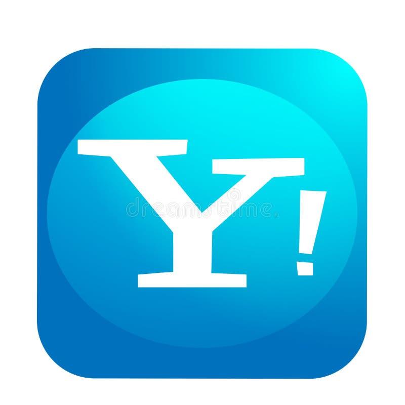 Yahoo poczty logo guzika ogólnospołeczna medialna ikona w wektorze z nowożytnymi gradientowymi projekt ilustracjami na białym tle ilustracji