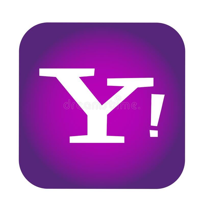 Yahoo poczty logo guzika ogólnospołeczna medialna ikona w wektorze z nowożytnymi gradientowymi projekt ilustracjami na białym tle royalty ilustracja