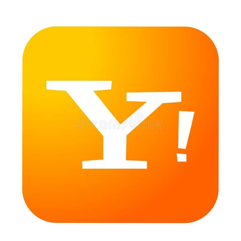 Yahoo poczty logo guzika ogólnospołeczna medialna ikona w złocistym wektorze z nowożytnymi gradientowymi projekt ilustracjami na  ilustracji