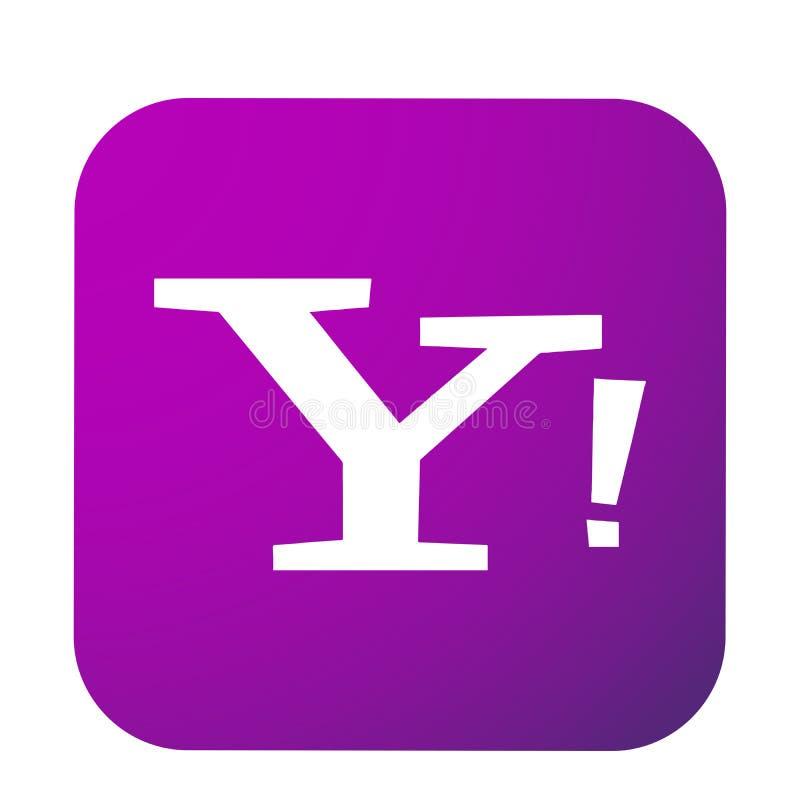 Yahoo poczty logo guzika og?lnospo?eczna medialna ikona w wektorze z nowo?ytnymi gradientowymi projekt ilustracjami na bia?ym tle royalty ilustracja
