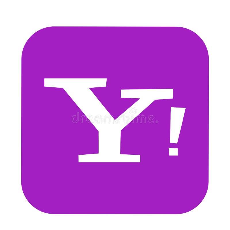 Yahoo poczty logo guzika og?lnospo?eczna medialna ikona w wektorze z nowo?ytnymi gradientowymi projekt ilustracjami na bia?ym tle ilustracji