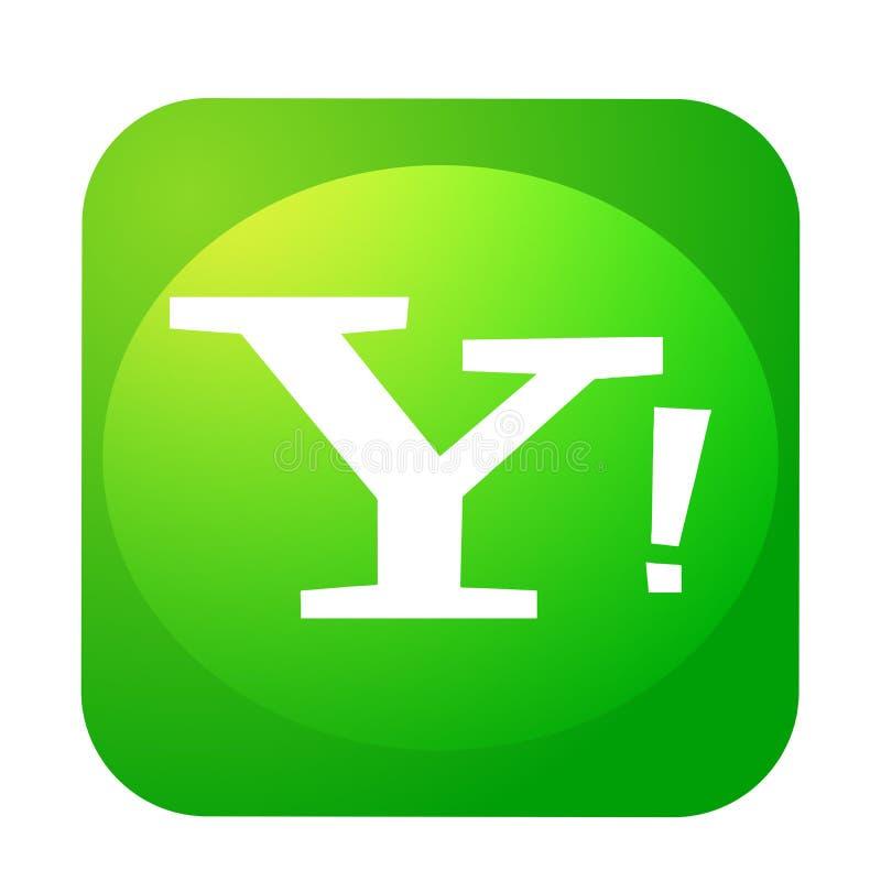 Yahoo poczty logo guzika og?lnospo?eczna medialna ikona w wektorze z nowo?ytnymi gradientowymi projekt ilustracjami na bia?ym tle ilustracja wektor