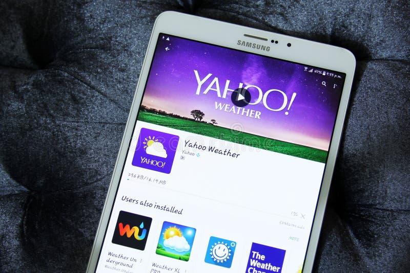 Yahoo-weer stock foto