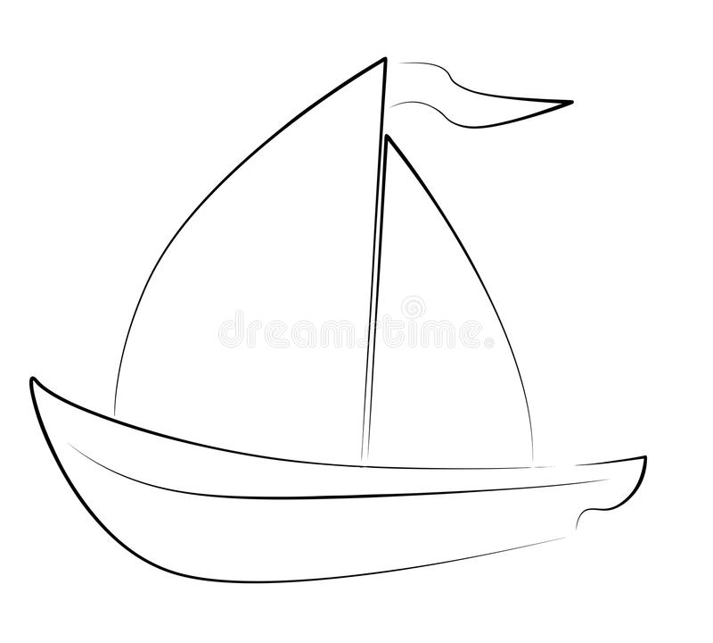 Yaht royalty-vrije illustratie
