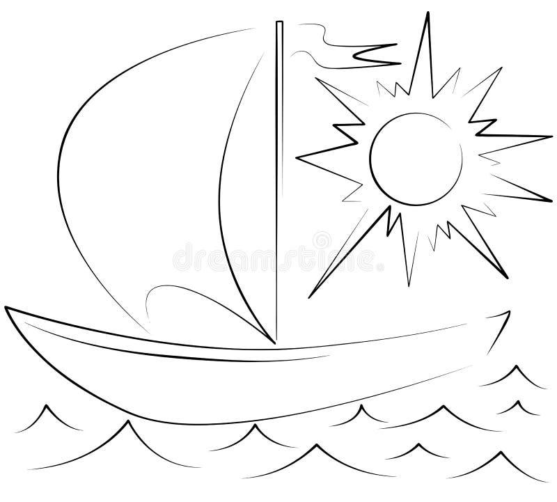 yaht ilustracji
