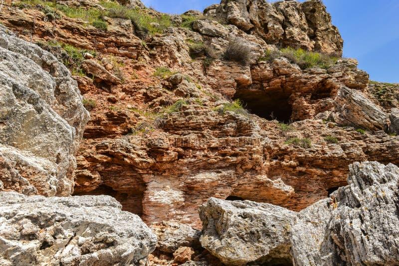Yailata расположено 2 km к югу от Kamen Briag и 18 km к северо-востоку от Kavarna стоковые фотографии rf