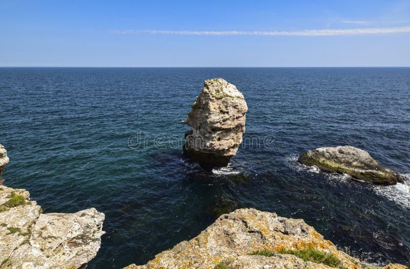 Yailata расположено 2 km к югу от Kamen Briag и 18 km к северо-востоку от Kavarna стоковое фото