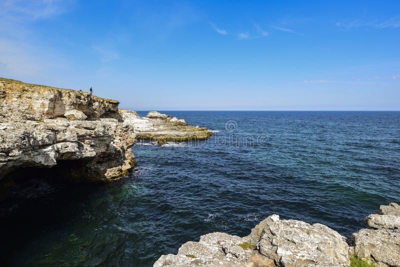 Yailata расположено 2 km к югу от Kamen Briag и 18 km к северо-востоку от Kavarna стоковые изображения rf