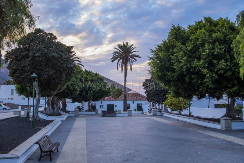 Yaiza, Лансароте, Канарские острова, Испания стоковые изображения rf