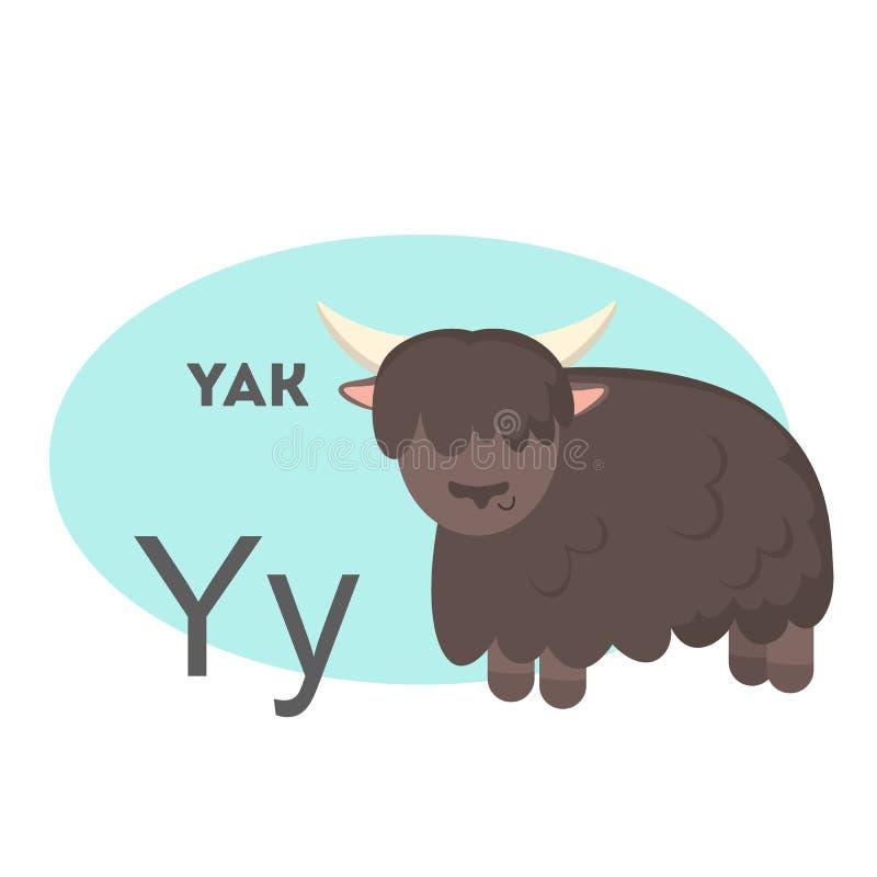 Yak στο αλφάβητο ελεύθερη απεικόνιση δικαιώματος