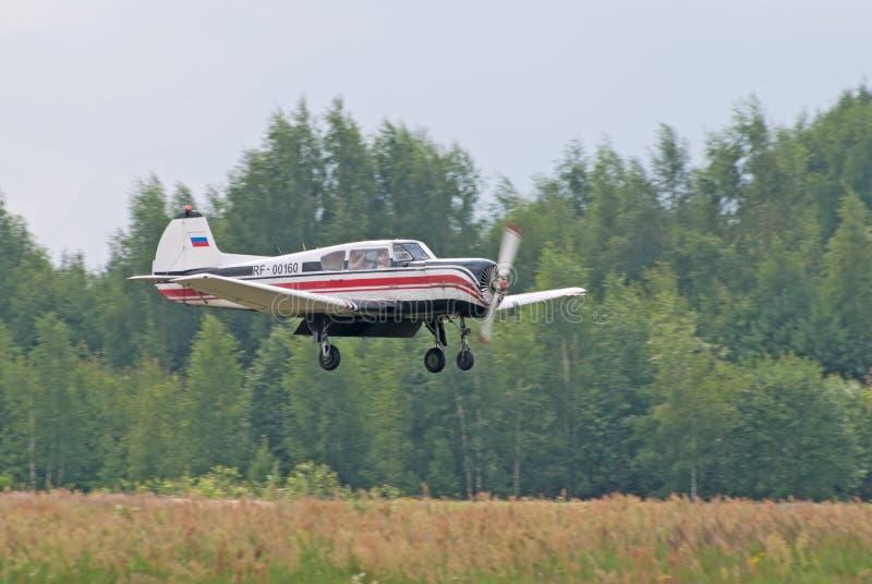 Download Yak-18t Lands Editorial Stock Image - Image: 20280319