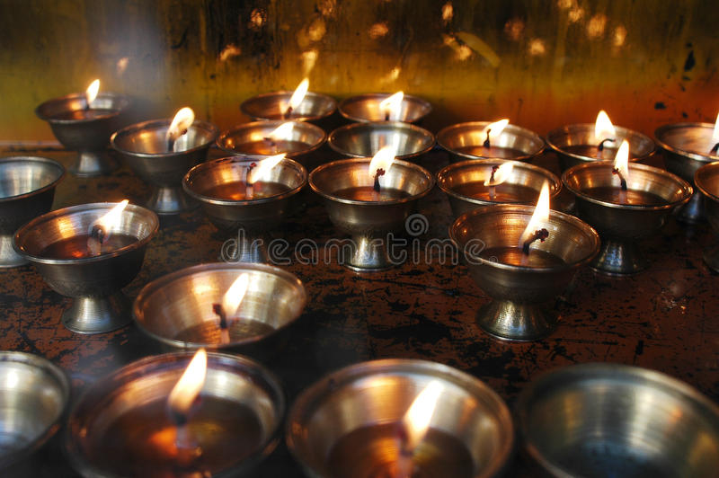 Download Yak Butter Lamps  in Tibet stock image. Image of flame - 12679875