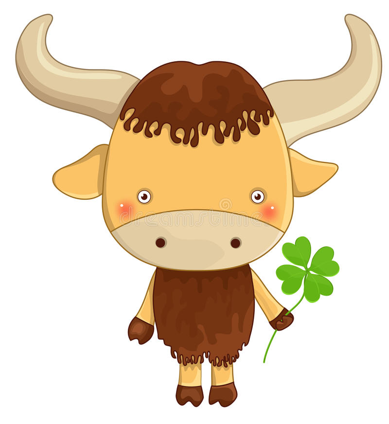 Download Yak cartoon character stock vector. Illustration of animated - 32252859