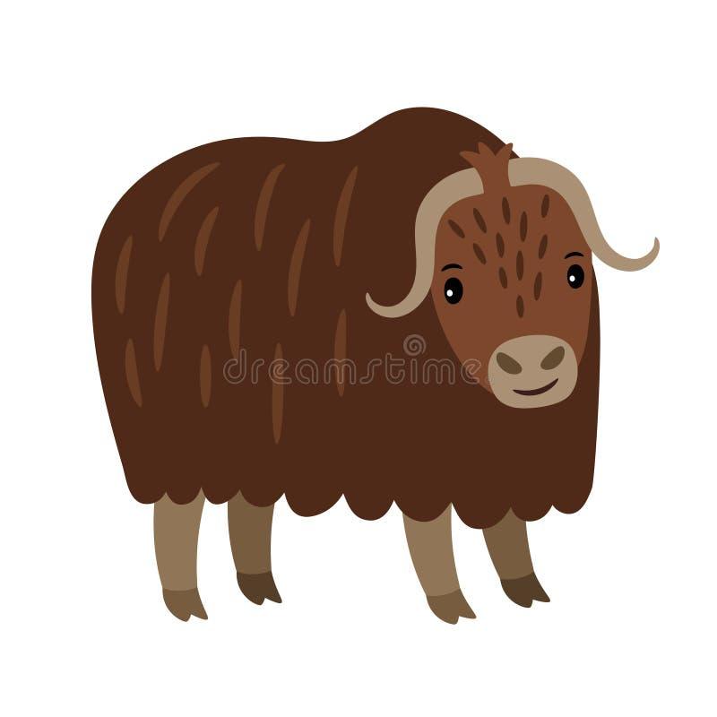 Yak cartoon icon stock illustration