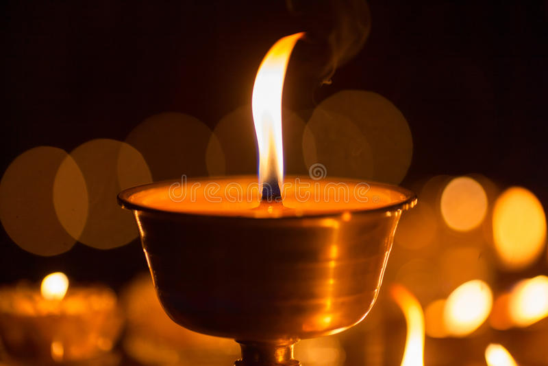 Yak masła lampy w Tybet fotografia royalty free