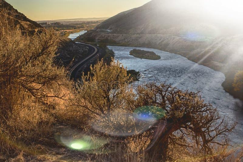 Yakima Canyon desde arriba fotografía de archivo