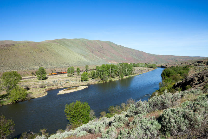 Yakima River arkivbilder