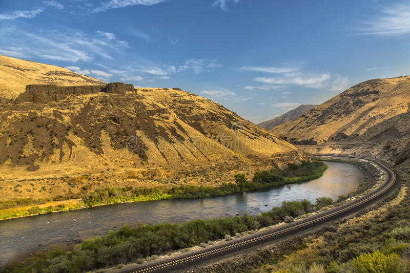 Yakima River Canyon fotografia stock