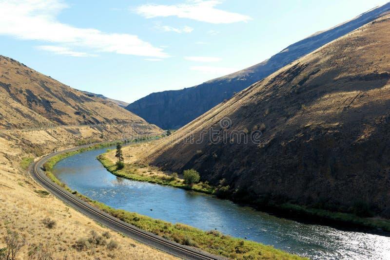 Yakima River in Yakima Canyon fotografie stock