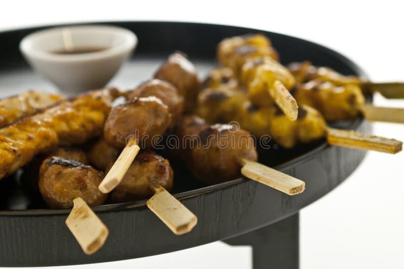 Yakitori, cuisine japonaise. photos stock