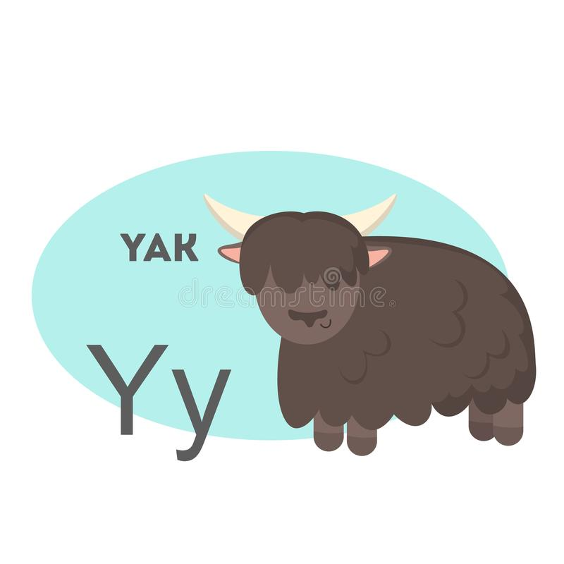 Yaks sur l'alphabet illustration libre de droits