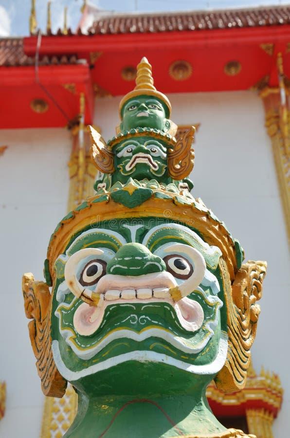Yaksha Guardian of Thailand Temple stock photos