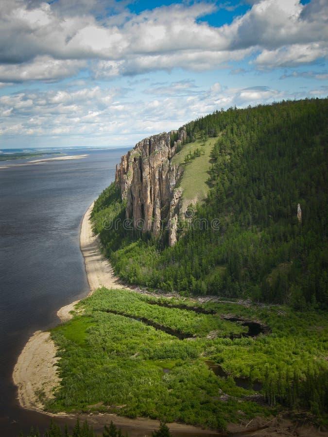 Yakutia wild bergliggande royaltyfri fotografi