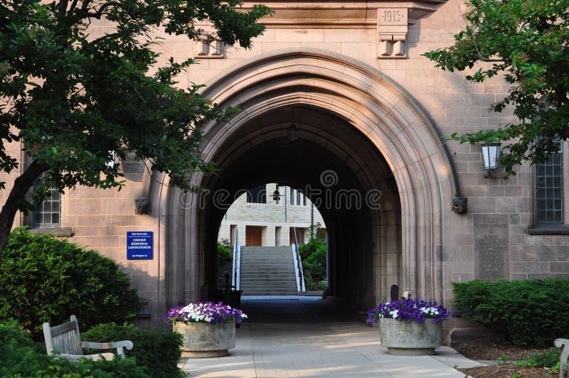 Yale Campus byggnad royaltyfria foton
