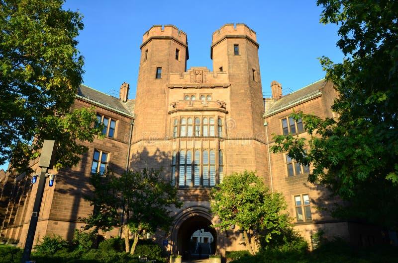 Yale Campus-Gebäude lizenzfreie stockbilder