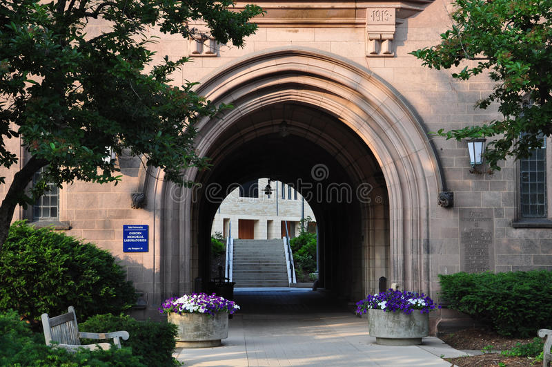 Yale Campus-Gebäude lizenzfreie stockfotos