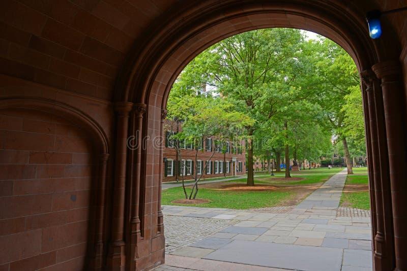Yale Old Campus, Yale University, CT, Etats-Unis photographie stock