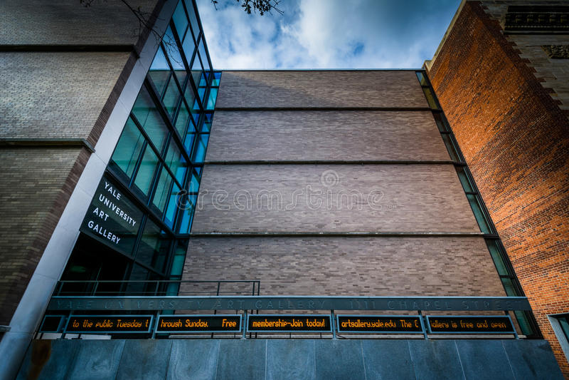 Yale University Art Gallery, em Yale University, em novo tem fotos de stock