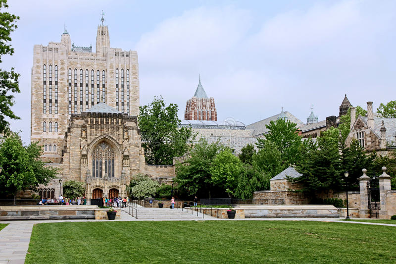 Yale University Campus image stock