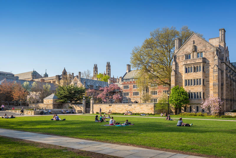 Yale University Campus fotografía de archivo